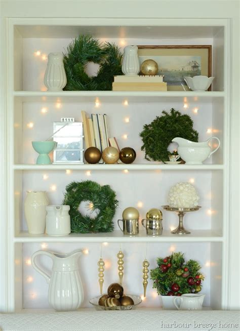 Decorating With Bookcases by Bookcase With Twinkles Harbour Home