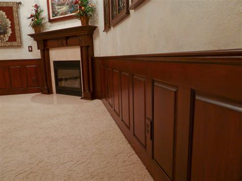 Colonial Wainscoting by Wainscoting Wood Wainscoting Stained Dining Room