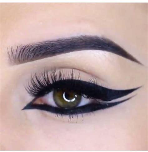 graphic double winged eyeliner style  eyeliner makeup makeup eyeliner double winged eyeliner