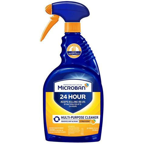 home depot 24 hrs microban 32 oz 24 hour multi purpose cleaner and disinfectant mb110 the home depot