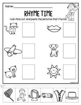 rhyme time cut paste worksheets by berns tpt 608 | original 1541640 2