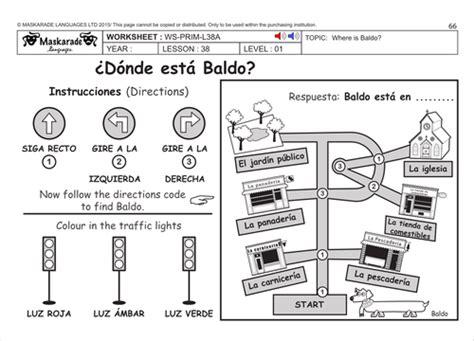 spanish ks level  directions  maskaradelanguages