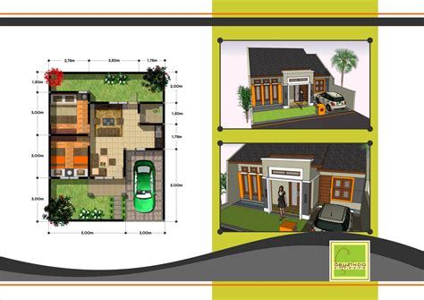 desain denah rumah minimalis  lantai