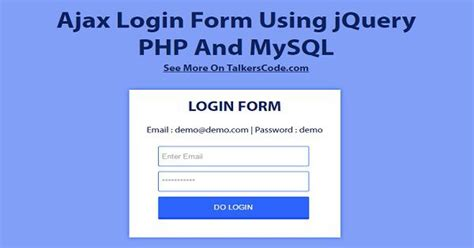 2019 updated ajax login form using jquery php and mysql