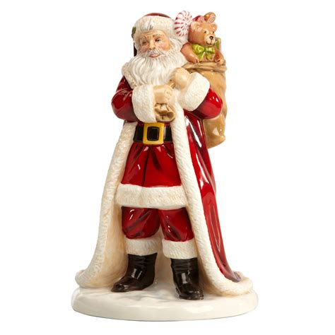 father christmas english ladies company figurine