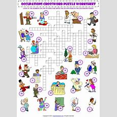 Jobs Occupations Professions Criss Cross Crossword Puzzle Vocabulary