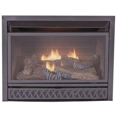 lowes gas fireplace shop procom 28 75 in w 26 000 btu black vent free dual