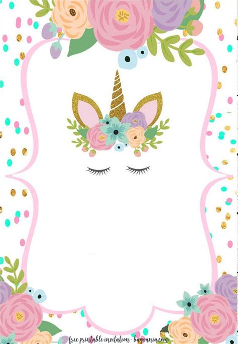unicorn invitation templates  edition
