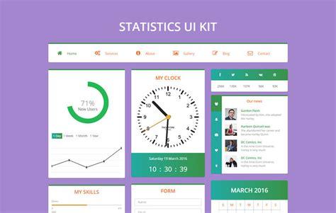 statistics template statistics ui kit flat bootstrap responsive web template w3layouts