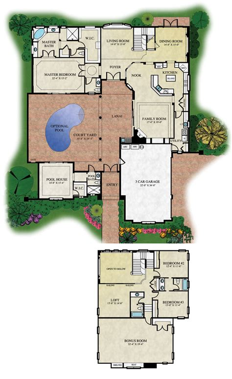 house plan with courtyard court yard house plans floor plans