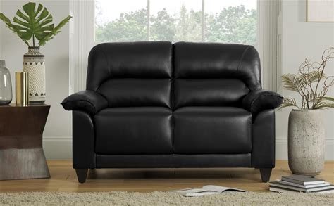 Small Black Loveseat by Kenton Small Black Leather Sofa 2 Seater Only 163 249 99