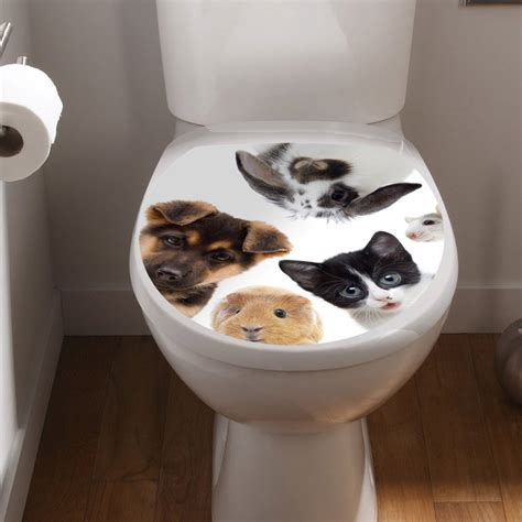 stickers muraux pour toilette sticker abattant toilette nos amis animaux stickers toilettes abattants wc ambiance sticker