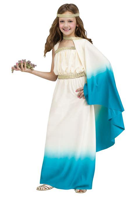outdoor spider decorations child blue goddess costume