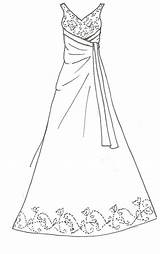 Dress Coloring Pages Wedding Printable Line Barbie Doll Drawing Sewing Dresses Print Clothes Deviantart Patterns Getcolorings Colo Sketch Deviant Prom sketch template
