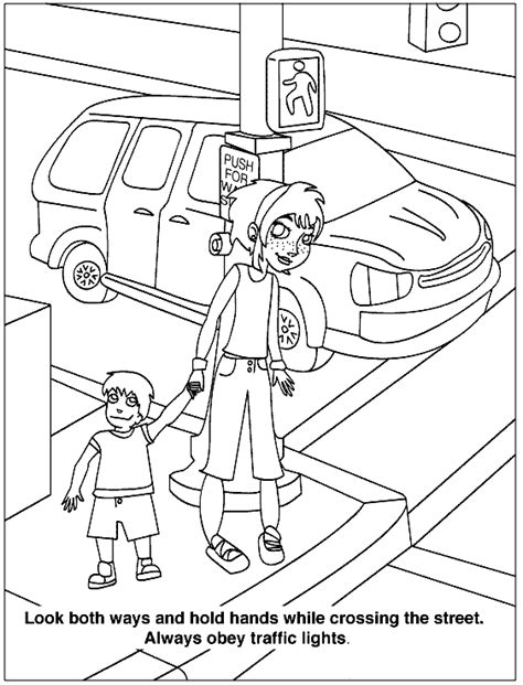 health  safety coloring pages  childrens printable