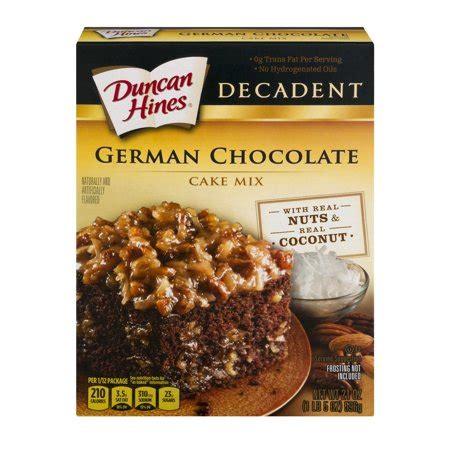 duncan hines decadent german chocolate cake mix  oz