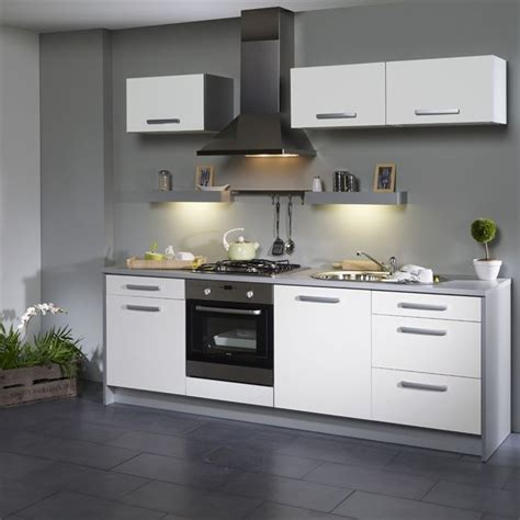 meuble de cuisine blanc quelle couleur pour les murs decoration cuisine blanc et grise