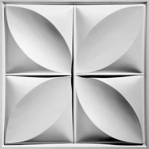 petal white ceiling tiles