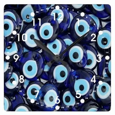 Nazar Amulets Evil Eye Stones Blue Pattern ClocksZazzle
