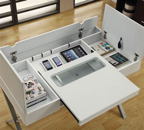 desk with hidden compartments cool desks that make you love your job