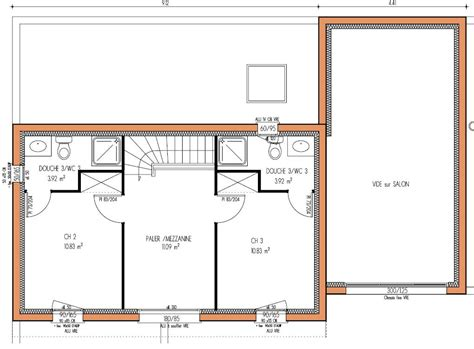 plan maison à étage 4 chambres plan maison 3 etages
