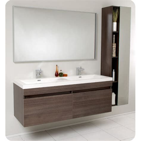 Single Sink With Two Faucets by Create Contemporary Look With Mid Century Modern Bathroom