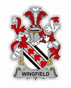 Wingfield Family Crest Vinyl Die-Cut Decal / Sticker ** 4 ...