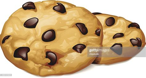 Chocolate Chip Cookies Vector Art