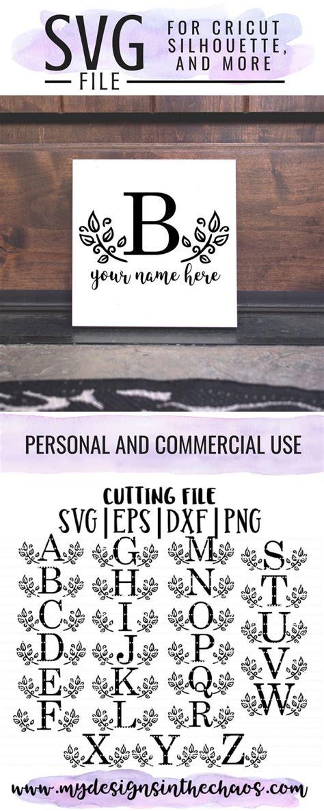 leaf letter monogram  svg freesvg silhouette cricut cricut monogram lettering