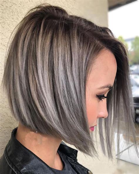 Asymmetrical Short Haircuts with Balayage Highlights 2018 ...