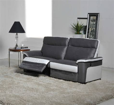 canap relax canape 3 places relax electrique idaho luba gris fonce pu