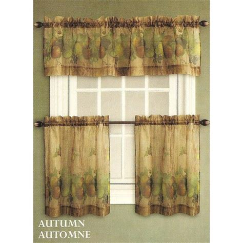 sears ca kitchen curtains 3 autumn kitchen tier set sears canada toronto
