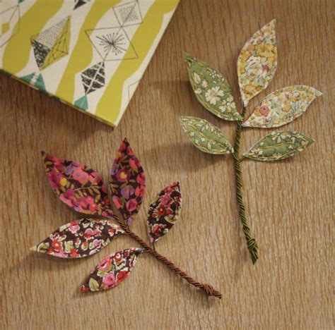 ls made from leaves how to make liberty fabric leaves mollie makes