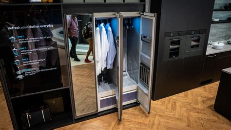 we re obsessed with samsung s airdresser a closet accessory for rich cnet