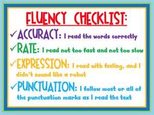 Reading Fluency Checklist