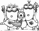 Minion Coloring Pages sketch template