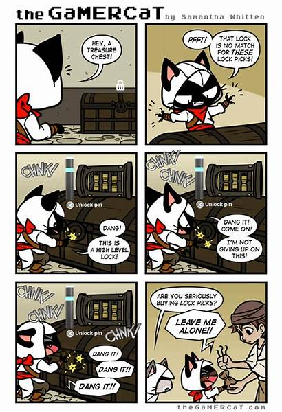 Cat Gamer Gamercat Comics Pusheen Comic Funny