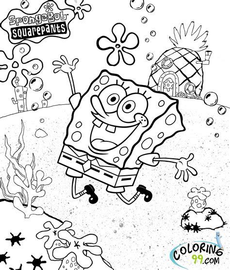 spongebob squarepants coloring pages team colors