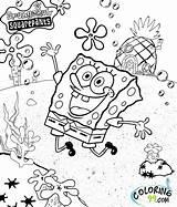 Spongebob Coloring Squarepants Pages Christmas Getcoloringpages sketch template