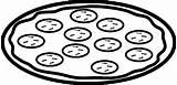 Pizza Coloring Pepperoni Slice Coloring4free Empty Preschooler Template sketch template
