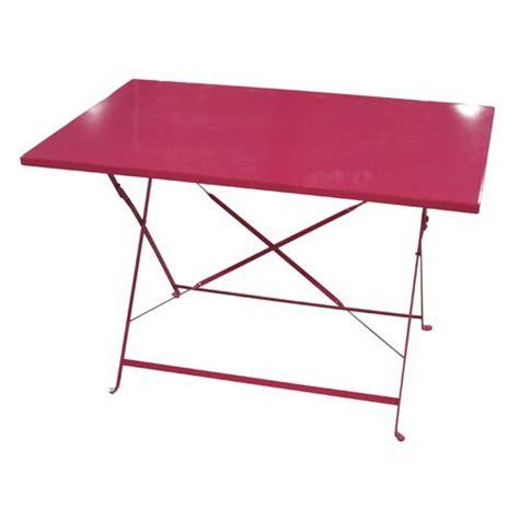 table pliante jardin table jardin pliante camargue 110x70cm framboise achat vente table de jardin table de