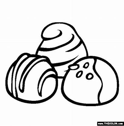 Chocolate Coloring Pages Sweet Treats Candy Drawing