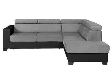 acheter canapé d angle convertible pas cher canapé d 39 angle convertible 5 places tresor coloris noir
