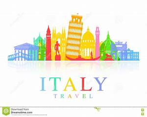 Italy Travel Landmarks Vector Stock Vector - Illustration ...
