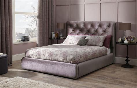 Alexandra Gold Fabric Bed Frame   Bedroom Furniture   Bed