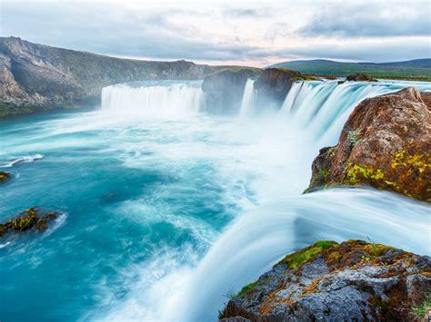 godafoss iceland waterfall   gods  waterfall