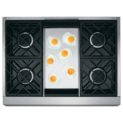 zgpndrss ge monogram  professional ng gas range stainless airport home appliance