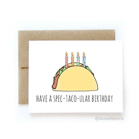 Perfect for food and kawaii lovers alike. 20+ Birthday Card Puns Graphic Design And Editable Templates - Candacefaber