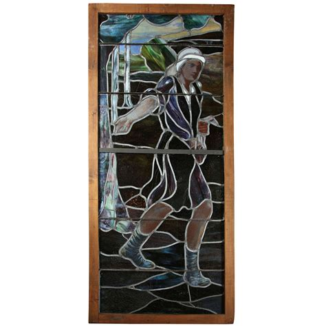 quot sower and the seed quot stained glass window for sale at 1stdibs