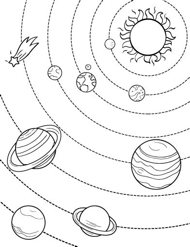 printable solar system coloring page